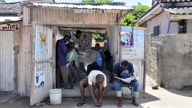 Watamu, Kenya. Barber shop