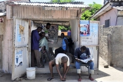 Watamu, Kenya. Barber shop