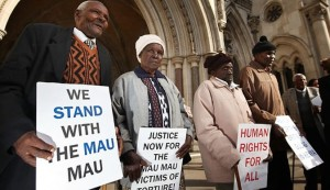 Mau Mau to Court of Justice in London