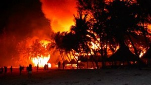 Watamu Beach Hotel. Fire
