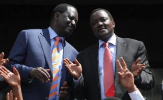 Raila Odinga (right) and Kalonzo Musyoka