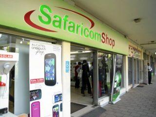 Shop group of Safaricom in Kenya