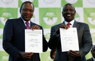 Uhuru Kenyatta and his deputy William Ruto