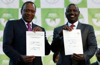 Uhuru Kenyatta and his deputy William Ruto