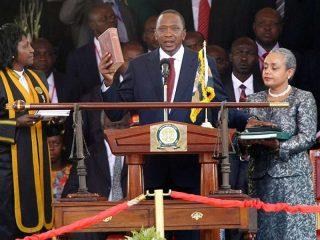Uhuru Kenyatta swears as the fourth president of Kenya