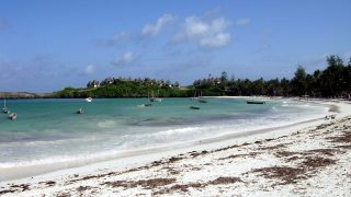 Spectacular view of the beach in Watamu bay