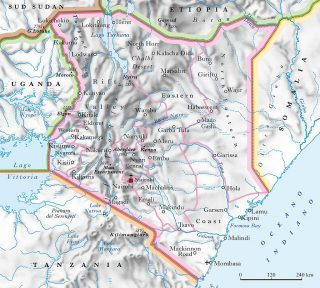 Kenya-Physical map