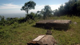 The grave of the McMillans and their dog with that of the maid Louise on Mount Ol Donyo Sabuk-Kenya Holidays