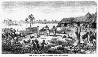 The massacre of women manyuema (Una-Ma-Nyema, meat eaters)