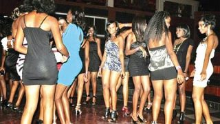 Girls in a night club in Nairobi