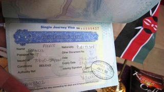 The single entry visa